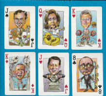 Vintage 1996 Politicards '96 Election Playing Cards Comic Caricatures